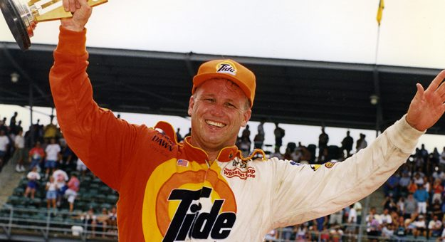 Ricky Rudd after winning the 1997 Brickyard 400 at Indianapolis Motor Speedway. (NASCAR Photo)