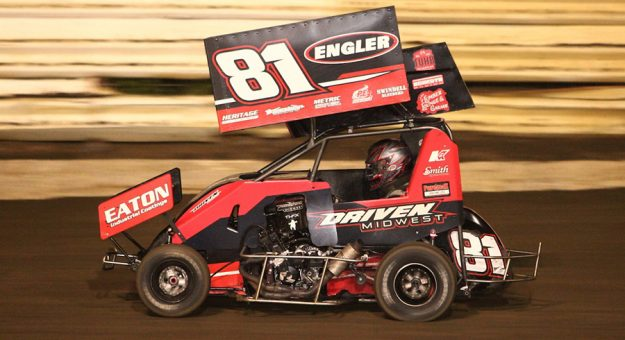 Frank Flud at Creek County Speedway. (Richard Bales photo)