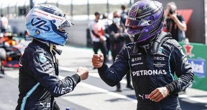 Bottas Nips Hamilton For Pole In Portugal