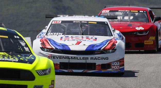 Mike Skeen scored the Trans-Am Series TA2 pole at WeatherTech Raceway Laguna Seca Friday.