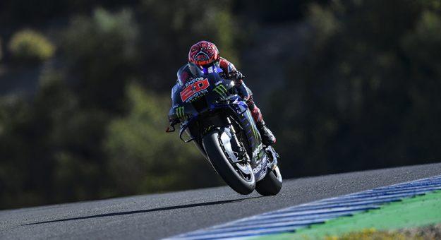 Fabio Quartararo has claimed the pole for the MotoGP event in Jerez, Spain. (Yamaha Photo)