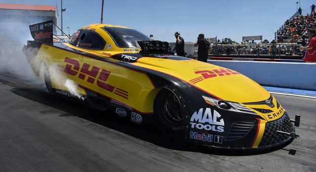 J.R. Todd was the top qualifier in the Funny Car class Saturday at Atlanta Dragway. (NHRA photo)