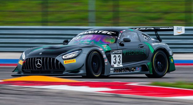 Russell Ward and Philip Ellis put the Winward Racing Mercedes second Saturday at Circuit of The Americas.