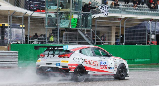 Jeff Ricca takes the checkered flag Saturday at Circuit of The Americas.