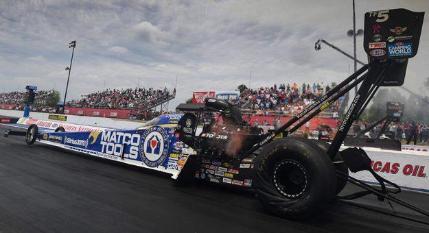 Antron Brown claimed the Top Fuel Wally on Sunday at Atlanta Dragway. (NHRA Photo)