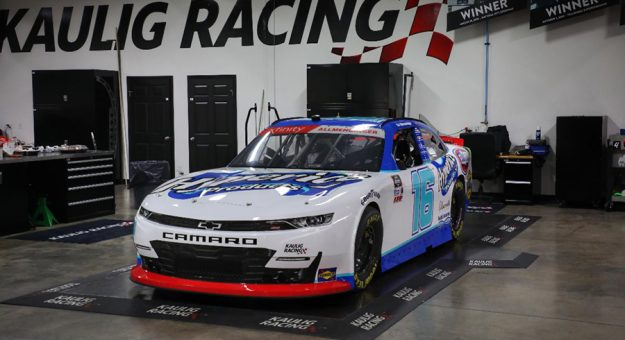 Kaulig Racing surprised A.J. Allmendinger with a throwback scheme honoring Allmendinger's first NASCAR Cup Series victory.