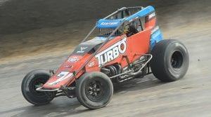 Tyler Courtney was unbeatable Saturday afternoon at Eldora Speedway. (Julia Johnson Photo)