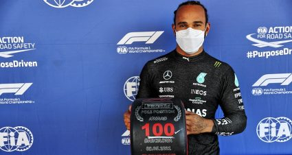 Lewis Hamilton Earns 100th F-1 Pole