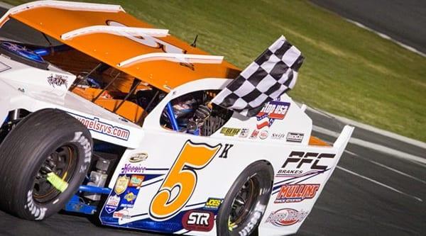 Kyle Tellstrom won Saturday's 60-lap modified feature at Madera Speedway. (Joshua Rodriguez Photo)
