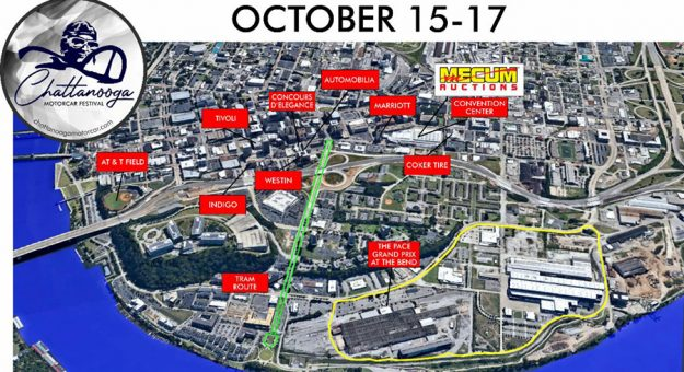A new race track has been added to the Chattanooga Motorcar Festival.