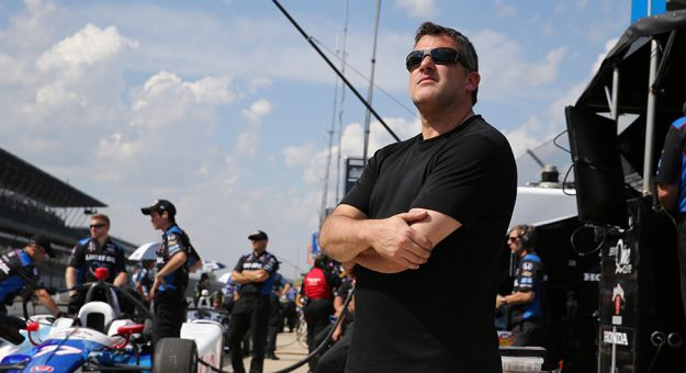 Tony Stewart will sit on the pit box alongside A.J. Foyt during the 105th Indianapolis 500. (IndyCar Photo)