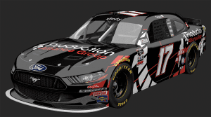 Cole Custer's No. 17 that he will drive at Circuit of the Americas.