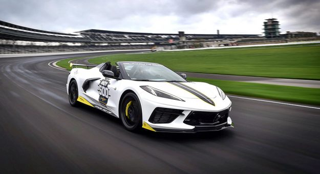 The 2021 mid-engine Chevrolet Corvette Stingray hardtop convertible will lead the Indianapolis 500 field to the green later this month.