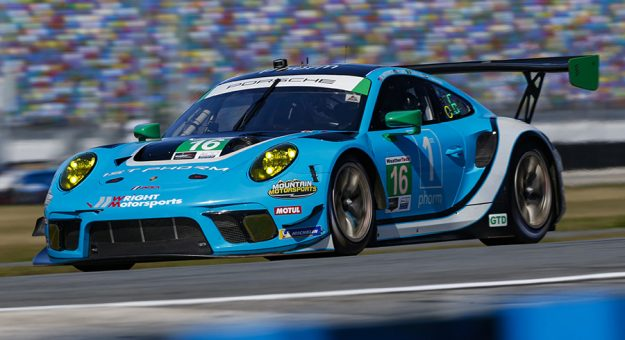 After suffering a concussion at Daytona Int'l Speedway in January, Ryan Hardwick is ready to return to racing. (IMSA Photo)