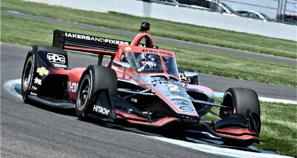 Newgarden Tops Second Practice On IMS Road Course