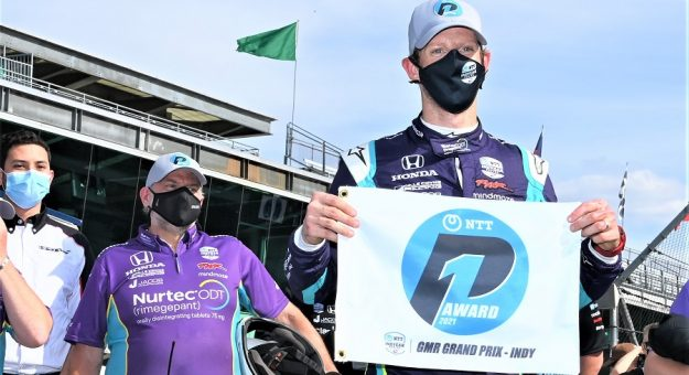 2021 Indycar Indy Gp Romain Grosjean Pole Award Al Steinberg Photo