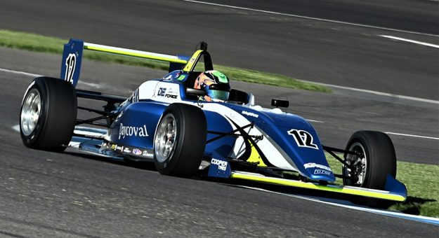 Kiko Porto won his first USF2000 race of the season Saturday at Indianapolis Motor Speedway. (Al Steinberg Photo)