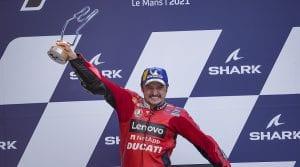 2021 Motogp French Gp Jack Miller Vl Celebration Ducati Photo