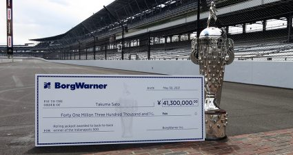BorgWarner Rolling Jackpot For Indy 500 Hits $380,000