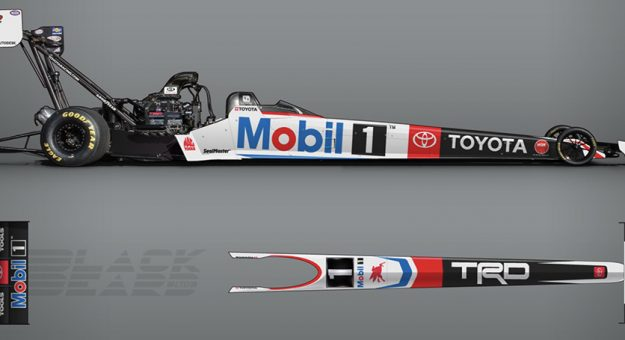 Mobil 1 and Toyota Racing Development will be the primary sponsors of Doug Kalitta at the NHRA SpringNationals.
