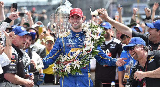 Alexander Rossi is one of several Indianapolis 500 winners entered in the 105th running of the Greatest Spectacle in Racing. (IndyCar Photo)