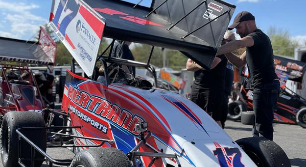 Nathan Byrd raced a NEMA midget at Lee (N.H.) USA Speedway on Saturday.