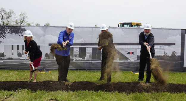 Rahal Letterman Lanigan Racing broke ground on its new race shop in Zionsville, Ind., on Tuesday. (Bruce Martin Photo)