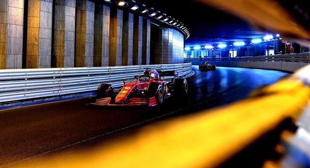 Charles Leclerc claimed the pole for the Monaco Grand Prix despite a crash in Q3. (Ferrari Photo)