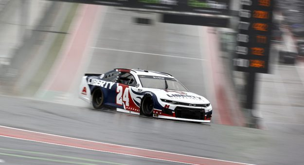 William Byron at speed during NASCAR Cup Series practice Saturday at Circuit of the Americas. (Jared C. Tilton/Getty Images)