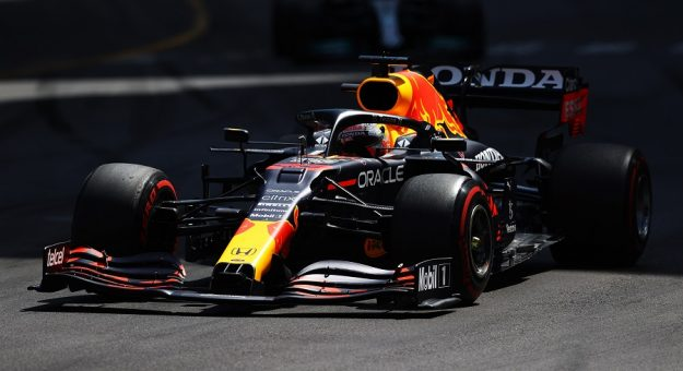 MONTE-CARLO, MONACO - MAY 23: Max Verstappen of the Netherlands driving the (33) Red Bull Racing RB16B Honda on track during the F1 Grand Prix of Monaco at Circuit de Monaco on May 23, 2021 in Monte-Carlo, Monaco. (Photo by Bryn Lennon/Getty Images) // Getty Images / Red Bull Content Pool  // SI202105230161 // Usage for editorial use only //   Getty Images
