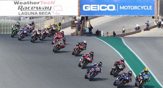 In addition to being an official partner of the MotoAmerica Championship, GEICO will also be the title sponsor of the GEICO Motorcycle Speedfest Of Monterey, July 9-11 at WeatherTech Raceway Laguna Seca. (Brian J. Nelson Photo)