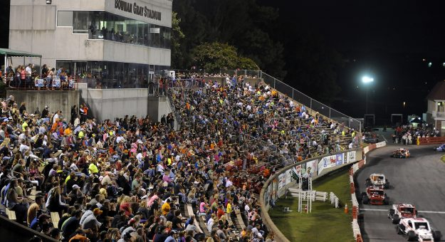 Bowman Gray Stadium's return to racing will be broadcast live by TrackPass on NBC Sports Gold. (Sara D. Davis for NASCAR Photo)