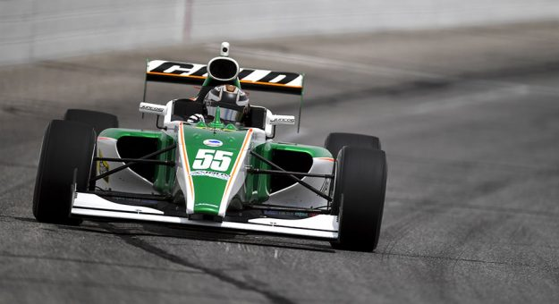 Reece Gold will start from the pole during Friday's Indy Pro 2000 event at Lucas Oil Raceway. (Gavin Baker/Road to Indy Photo)