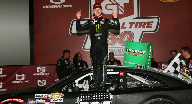 Ty Gibbs won Saturday's ARCA Menards Series race at Charlotte Motor Speedway. (Hadley Green/ARCA Racing)