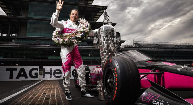 Helio Castroneves pocketed more than $1.8 million for his fourth Indianapolis 500 victory Sunday. (IndyCar Photo)