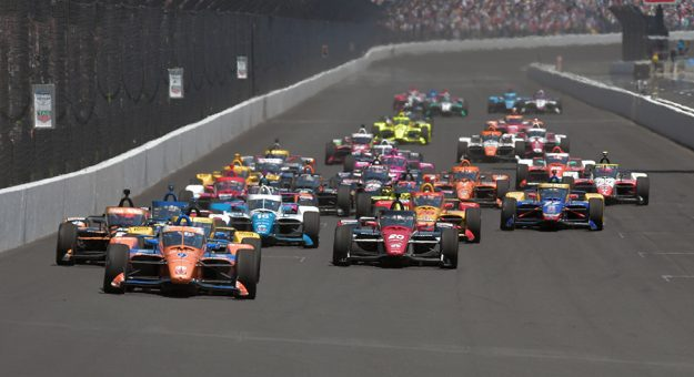 Front row starters Scott Dixon, Colton Herta and Rinus VeeKay fell short of victory in the 105th Indianapolis 500. (IndyCar Photo)