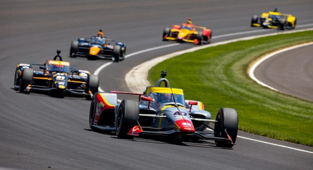 2021 Indy 500 Conor Daly Leads Pack Of Cars Sean Birkle Indycar Photo
