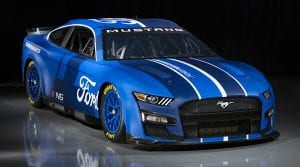 CONCORD, NORTH CAROLINA - APRIL 22: The 2022 NASCAR Next Gen Ford Mustang is previewed at NASCAR R&D Center on April 22, 2021 in Concord, North Carolina. (Photo by Jared C. Tilton/Getty Images) | Getty Images