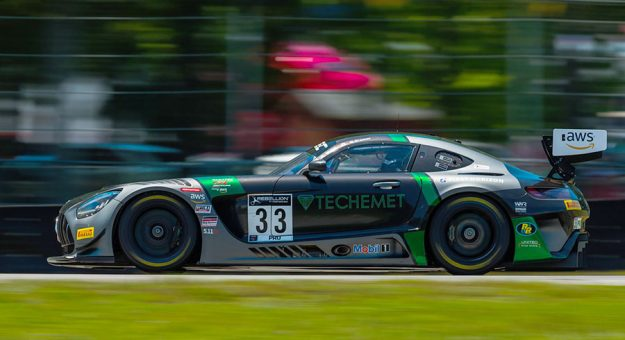 Russell Ward and Mikael Grenier were the overall winners of Sunday's GT World Challenge America race.