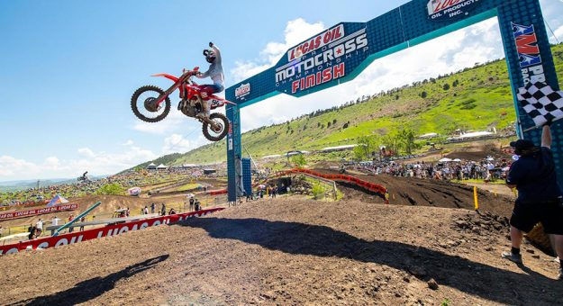 Ken Roczen earned his first Lucas Oil Pro Motocross victory since 2019 on Saturday in Colorado. (Align Media Photo)