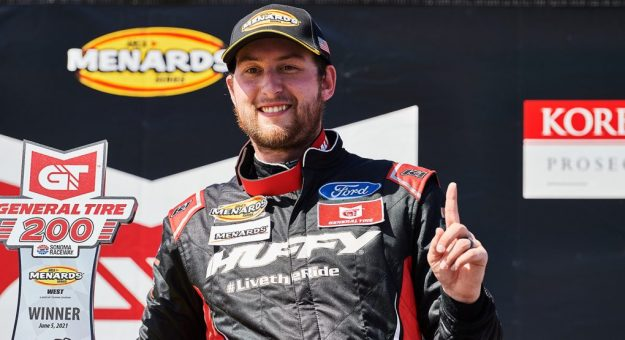 Chase Briscoe won Saturday's ARCA Menards Series West race at Sonoma Raceway. (Matt Cohen/ARCA Racing)