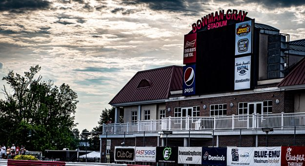 Racing returned to Bowman Gray Stadium for the first time in almost two years on Saturday night. (Jason Reasin Photo)
