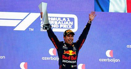 Sergio Perez Survives The Streets Of Baku