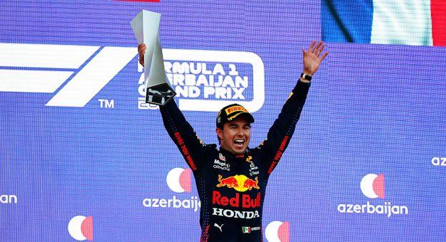 Sergio Perez won the Azerbaijan Grand Prix Sunday. (Maxim Shemetov - Pool/Getty Images Photo)