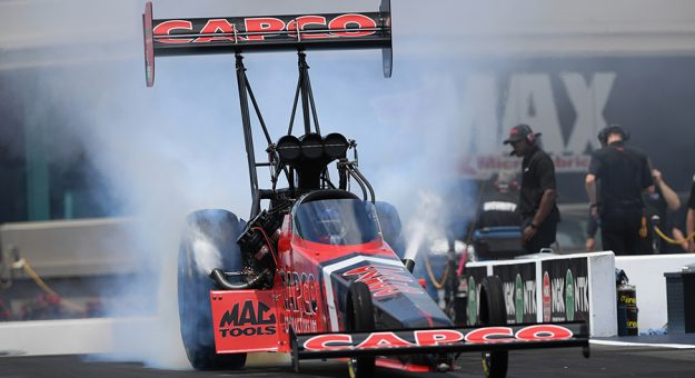 Steve Torrence won the most recent NHRA Top Fuel event at New England Dragway in 2019. (NHRA Photo)
