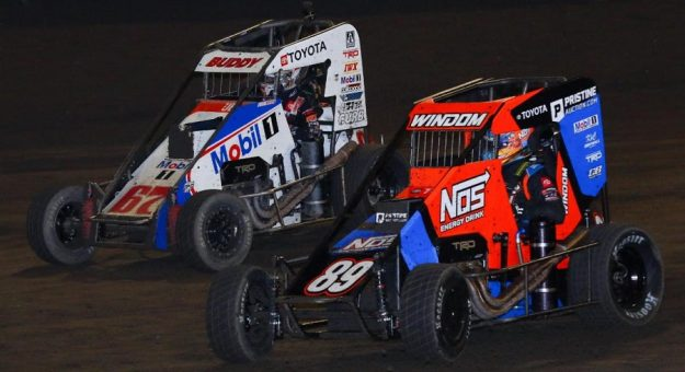 Buddy Kofoid (67) and Chris Windom are tied for the Indiana Midget Week point lead. (Josh James Photo)