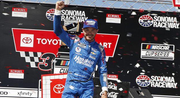 A random draw has given Kyle Larson the pole for the NASCAR All-Star Race. (HHP/Harold Hinson Photo) At Sonoma Raceway in Sonoma,CA. (HHP/Harold Hinson)