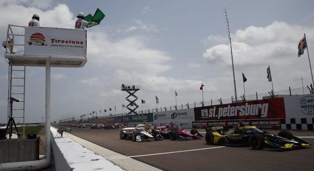 2021 Indycar St Pete Initial Green Flag Chris Jones Photo
