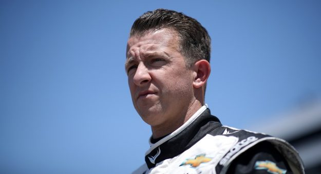 DOVER, DELAWARE - MAY 15: AJ Allmendinger, driver of the #16 Hyperice Chevrolet, walks the grid during the NASCAR Xfinity Series Drydene 200 race at Dover International Speedway on May 15, 2021 in Dover, Delaware. (Photo by Sean Gardner/Getty Images) | Getty Images