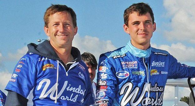 John And Jarett Andretti Usac Midget Week Gene Crucean Photo